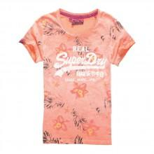 Superdry Vintage Logo Hibiscus Overdyed Tee