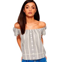 Superdry Marina Bardot Button Top
