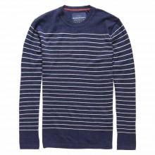 Superdry Orange Label Stripe Crew