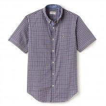 Lacoste Slim Fit Mini Check Poplin Shirt