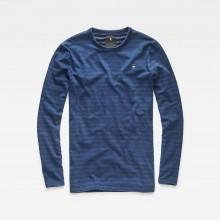 G-star Bonded Ribbed Neck Tee L/S Plated Indigo Stripe Jers
