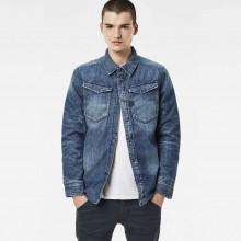 Gstar 3301 Padded Overshirt L/S Light Wt Craser Denim