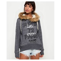 Superdry Applique Fur Slouch Hood