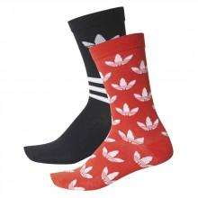 adidas originals Thin Crew Stripes Aop Socks (2 Pair)