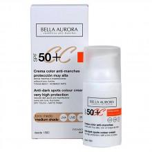 Consumo Bella Aurora CC Spf50+ Cream Color Anti Stains Medium Tone 30 ml