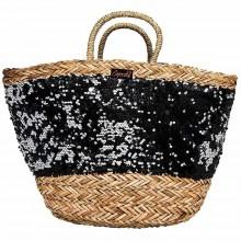 Superdry Sequin Straw Bag