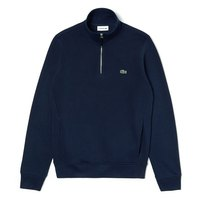 Lacoste Unbrushed Cotton Fleece Ribbed Crew Neck