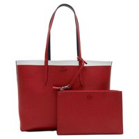 Lacoste Anna Reversible Contrast Band Coated Canvas Tote