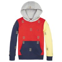Tommy hilfiger Monogram Aop Embroidered Colour Block Hoodie
