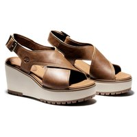 Timberland Leather Wedge Sandals Capri Sunset Cross Band Womens Ladies Size 4-8