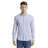 Tom tailor Shirt In Piqué Structure Svart, Dressinn