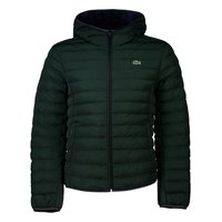Lacoste Lightweight Foldable Hooded Water-Resistant Pufffer